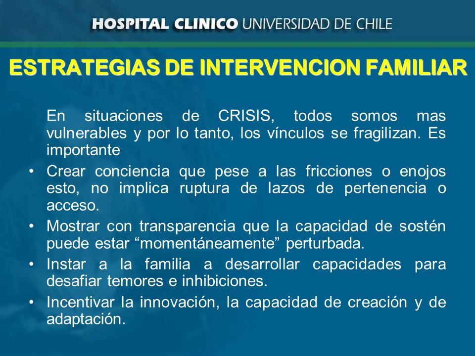 ESTRATEGIAS DE INTERVENCION FAMILIAR