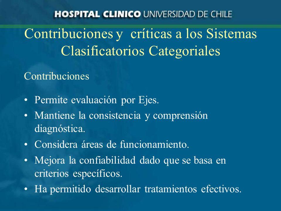 Contribuciones y críticas a los Sistemas Clasificatorios Categoriales