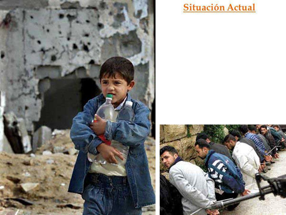 Situación Actual Desde esa fecha, y hasta el día de hoy, la población palestina está sobreviviendo con lo que puede, soportando.