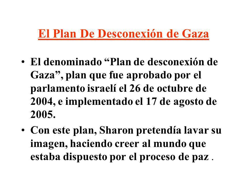 El Plan De Desconexión de Gaza