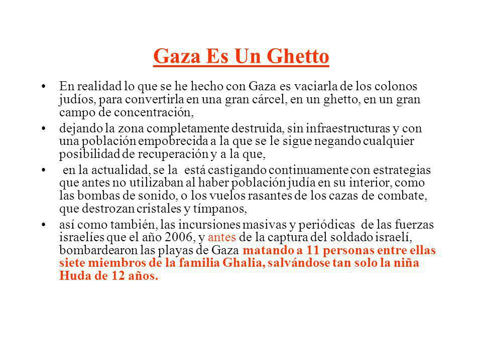 Gaza Es Un Ghetto