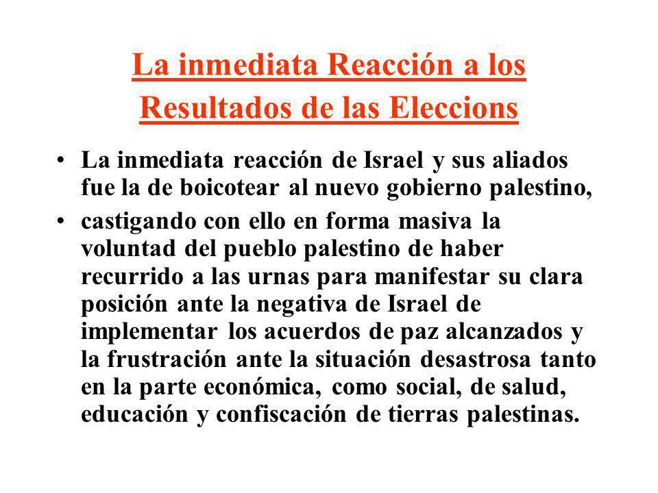 La inmediata Reacción a los Resultados de las Eleccions