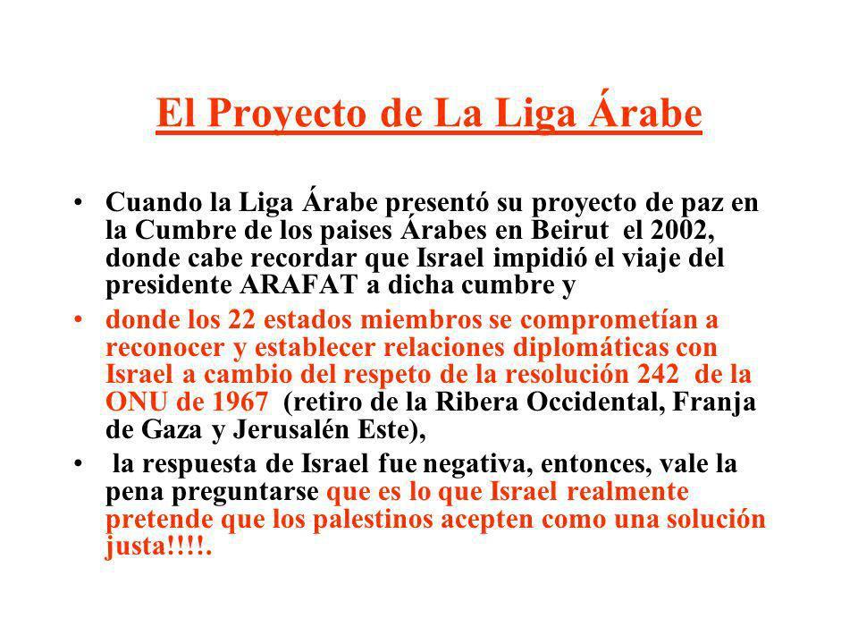 El Proyecto de La Liga Árabe