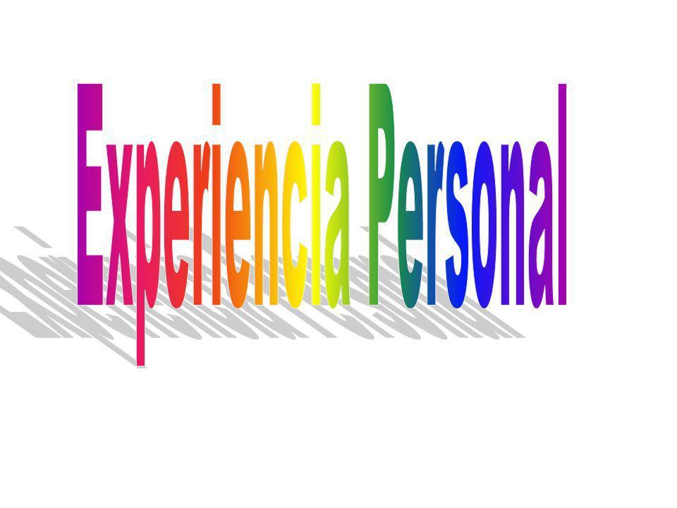 Experiencia Personal