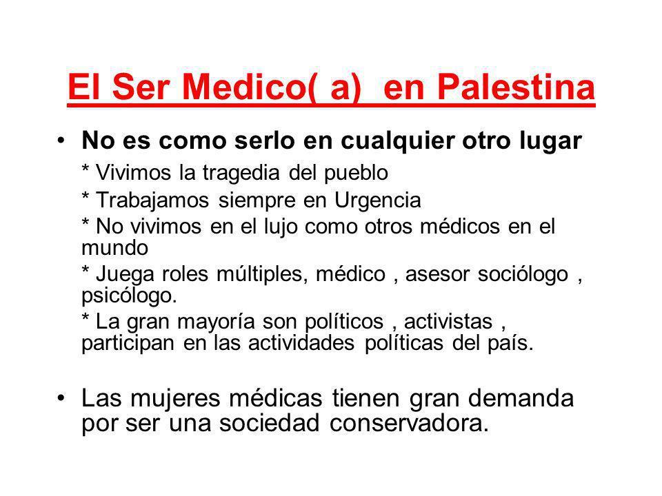 El Ser Medico( a) en Palestina