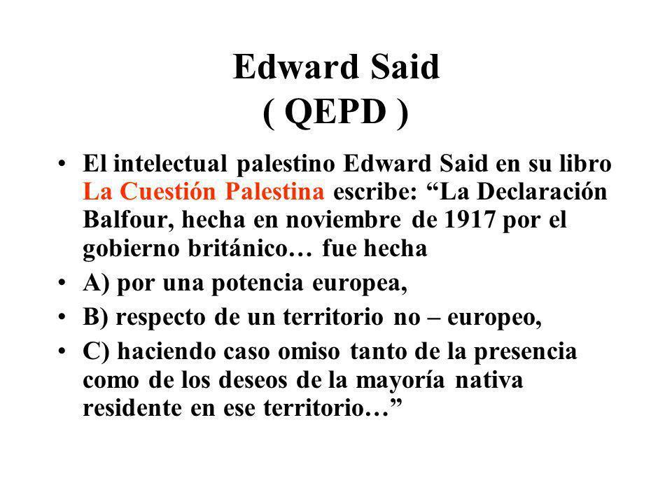 Edward Said ( QEPD )