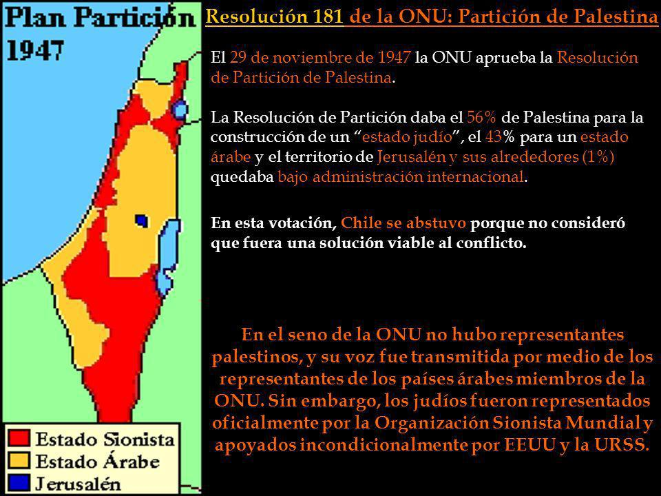 Resolución 181 de la ONU: Partición de Palestina