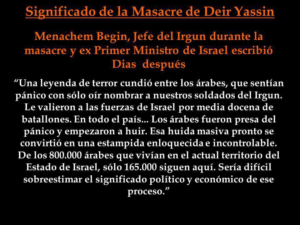 Significado de la Masacre de Deir Yassin