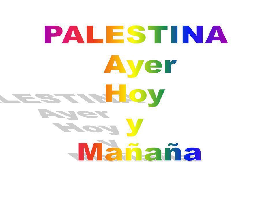 PALESTINA Ayer Hoy y Mañaña