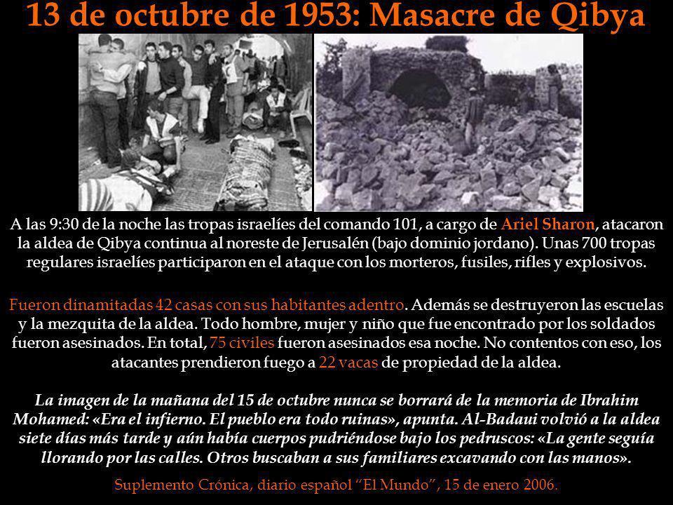 13 de octubre de 1953: Masacre de Qibya