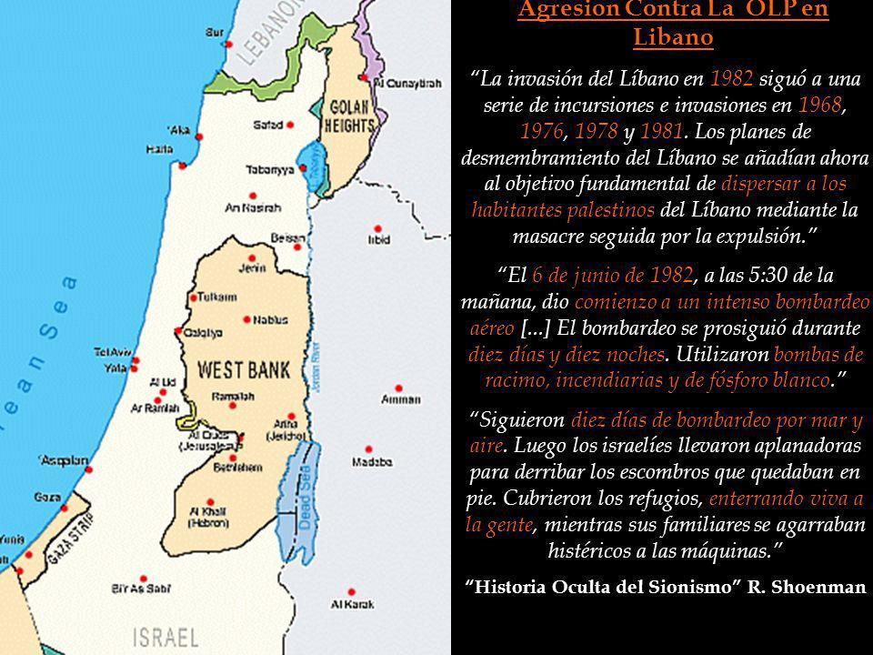 Agresion Contra La OLP en Libano