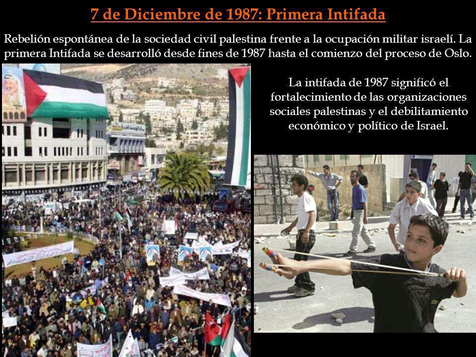 7 de Diciembre de 1987: Primera Intifada