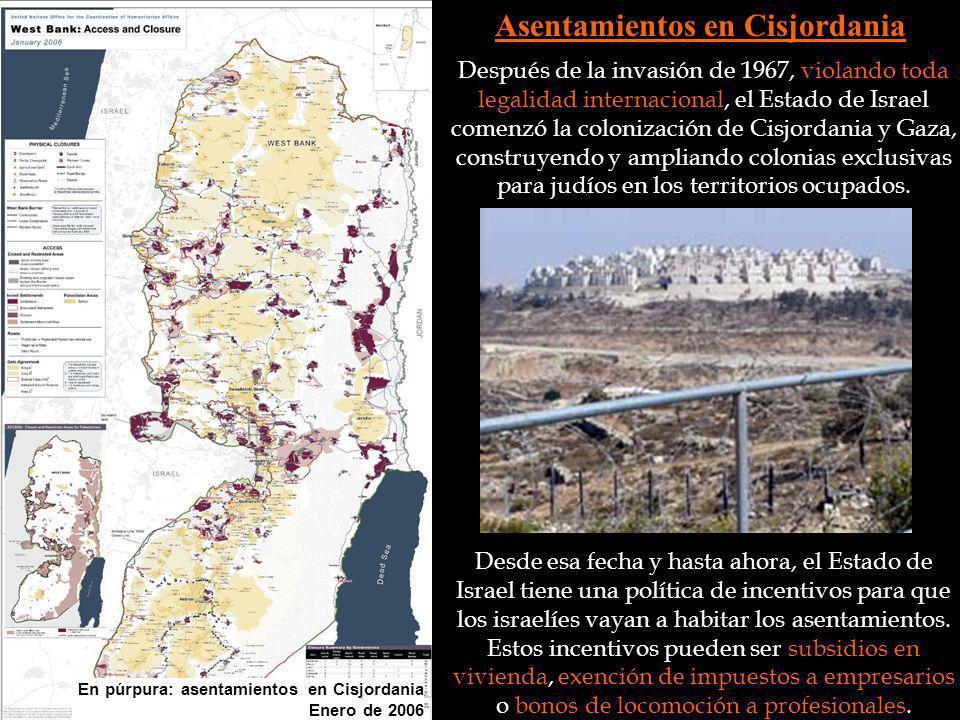 Asentamientos en Cisjordania