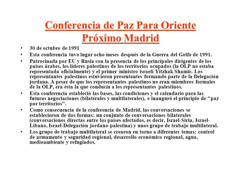Conferencia de Paz Para Oriente Próximo Madrid