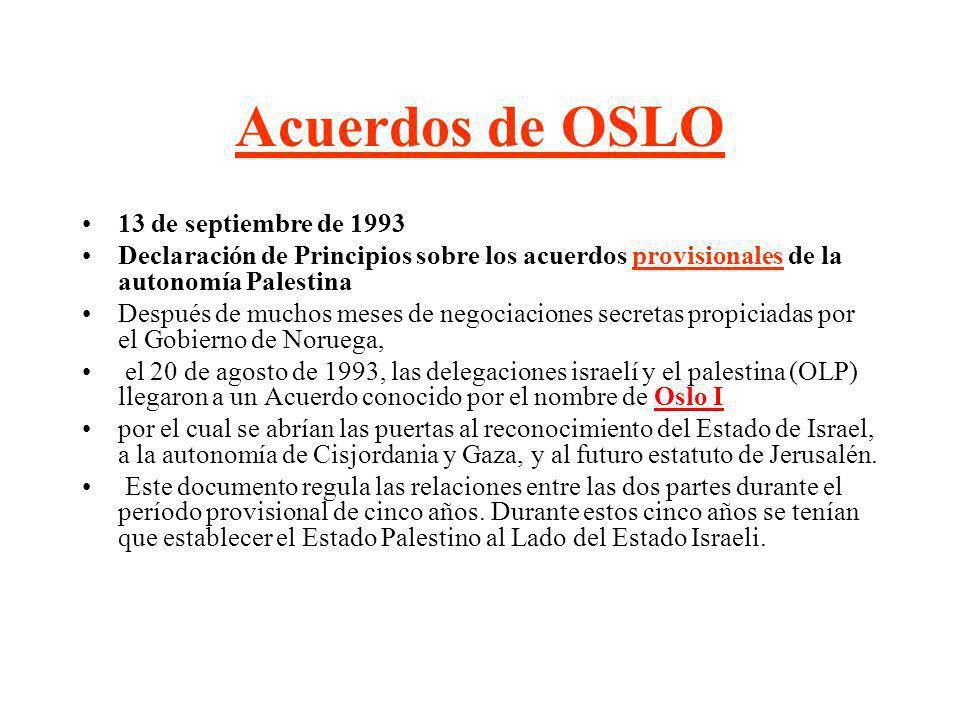 Acuerdos de OSLO 13 de septiembre de 1993