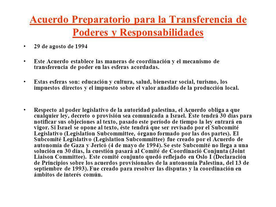 Acuerdo Preparatorio para la Transferencia de Poderes y Responsabilidades