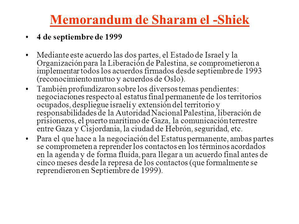 Memorandum de Sharam el -Shiek