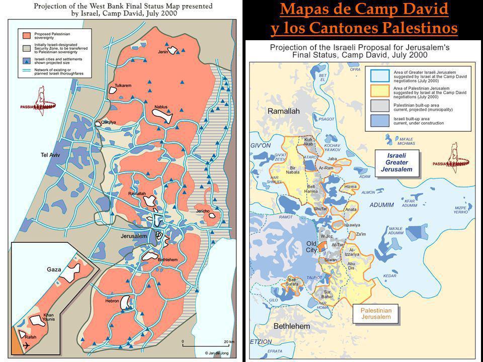 Mapas de Camp David y los Cantones Palestinos