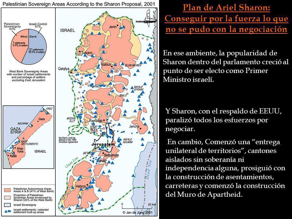 Plan de Ariel Sharon: Conseguir por la fuerza lo que no se pudo con la negociación