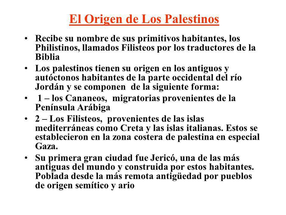 El Origen de Los Palestinos