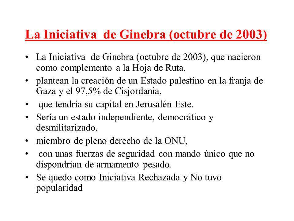 La Iniciativa de Ginebra (octubre de 2003)