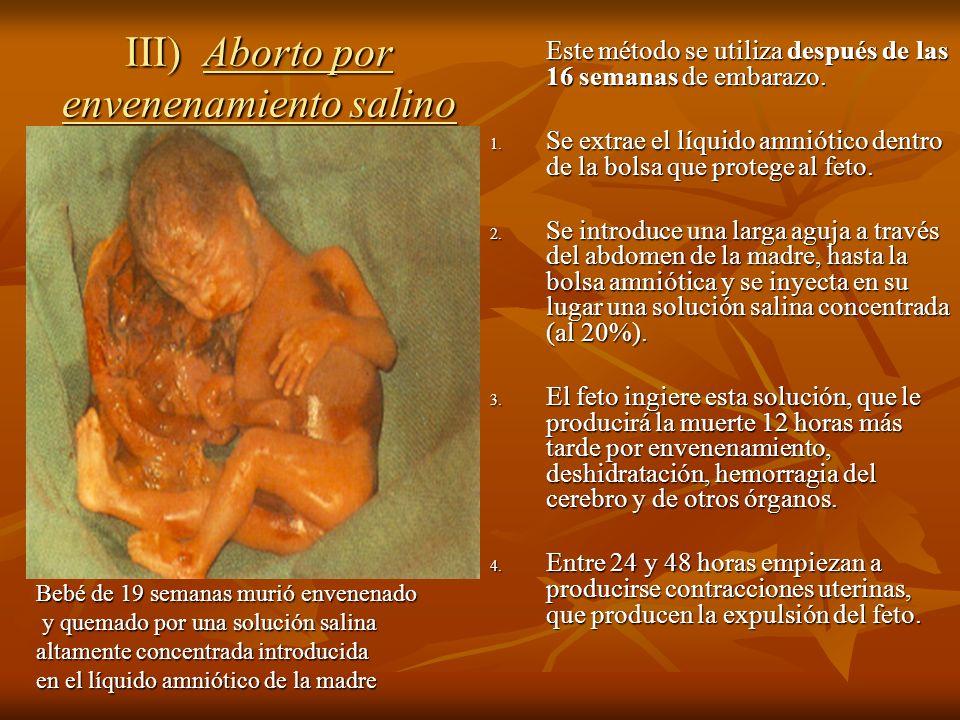 III) Aborto por envenenamiento salino