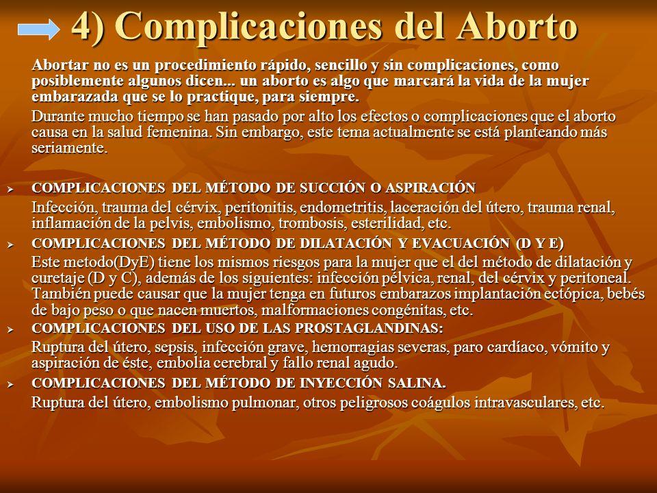 4) Complicaciones del Aborto