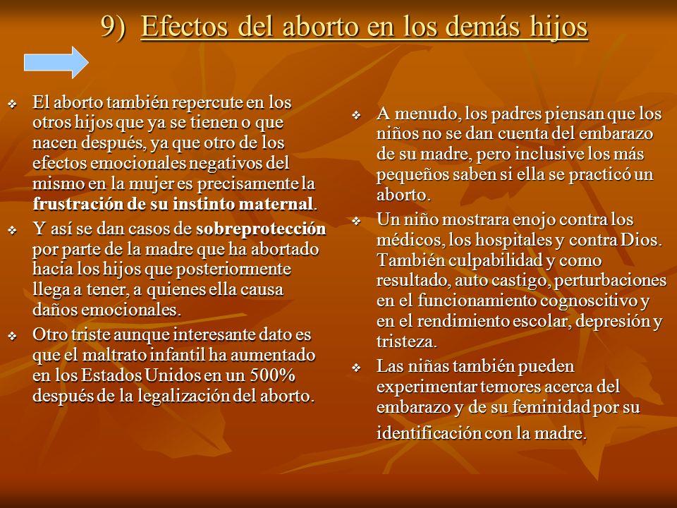 9) Efectos del aborto en los demás hijos