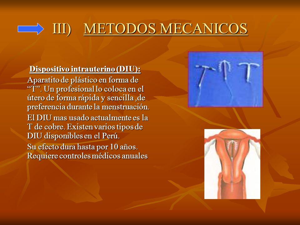 III) METODOS MECANICOS