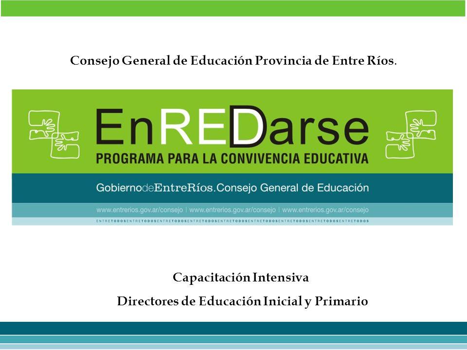 Capacitación Intensiva Directores de Educación Inicial y Primario