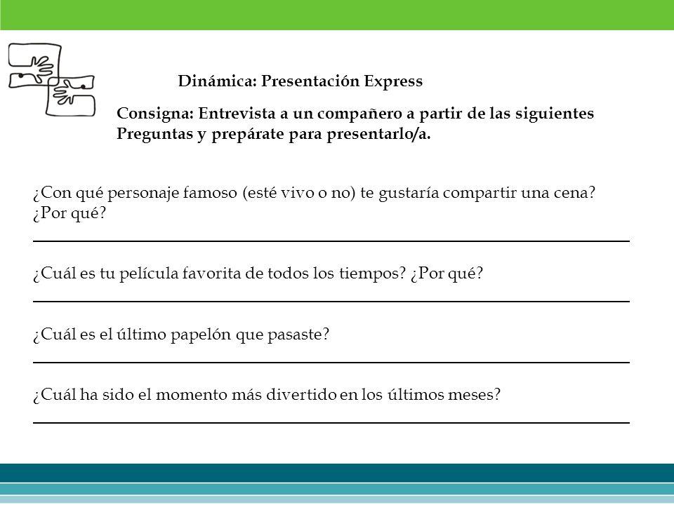 Dinámica: Presentación Express