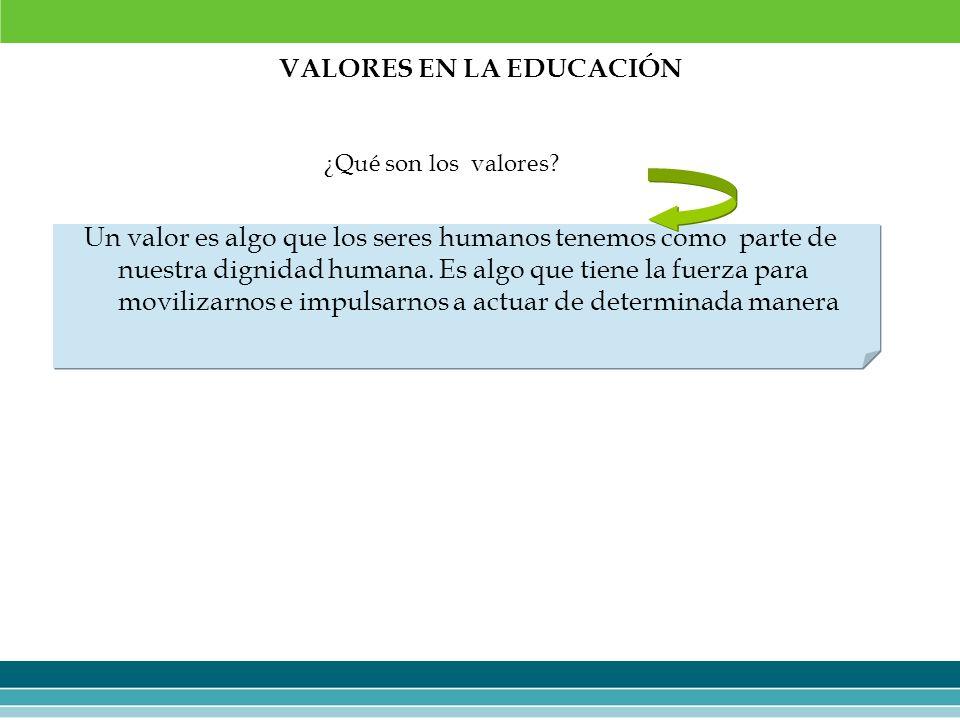 VALORES EN LA EDUCACIÓN