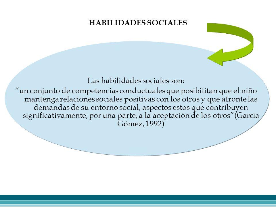 Las habilidades sociales son: