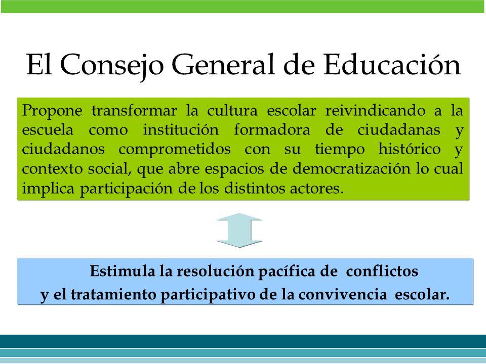 El Consejo General de Educación