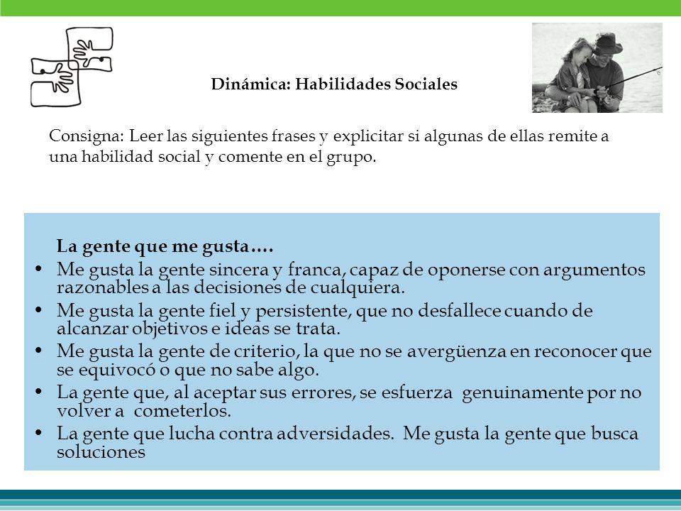 Dinámica: Habilidades Sociales
