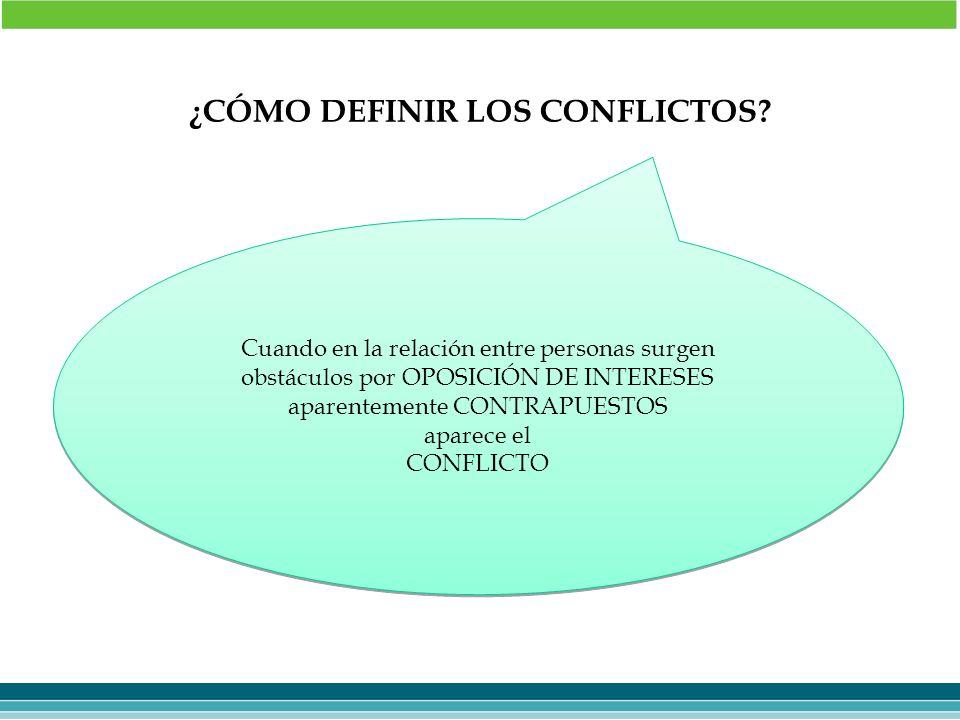 ¿CÓMO DEFINIR LOS CONFLICTOS