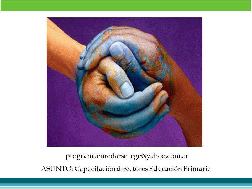 ASUNTO: Capacitación directores Educación Primaria