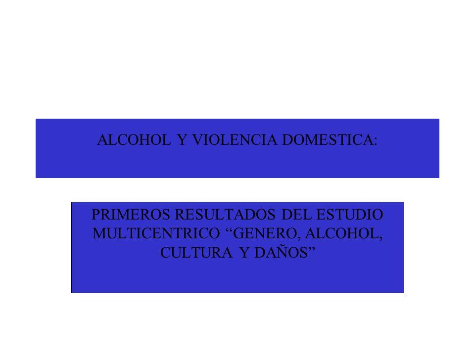 ALCOHOL Y VIOLENCIA DOMESTICA: