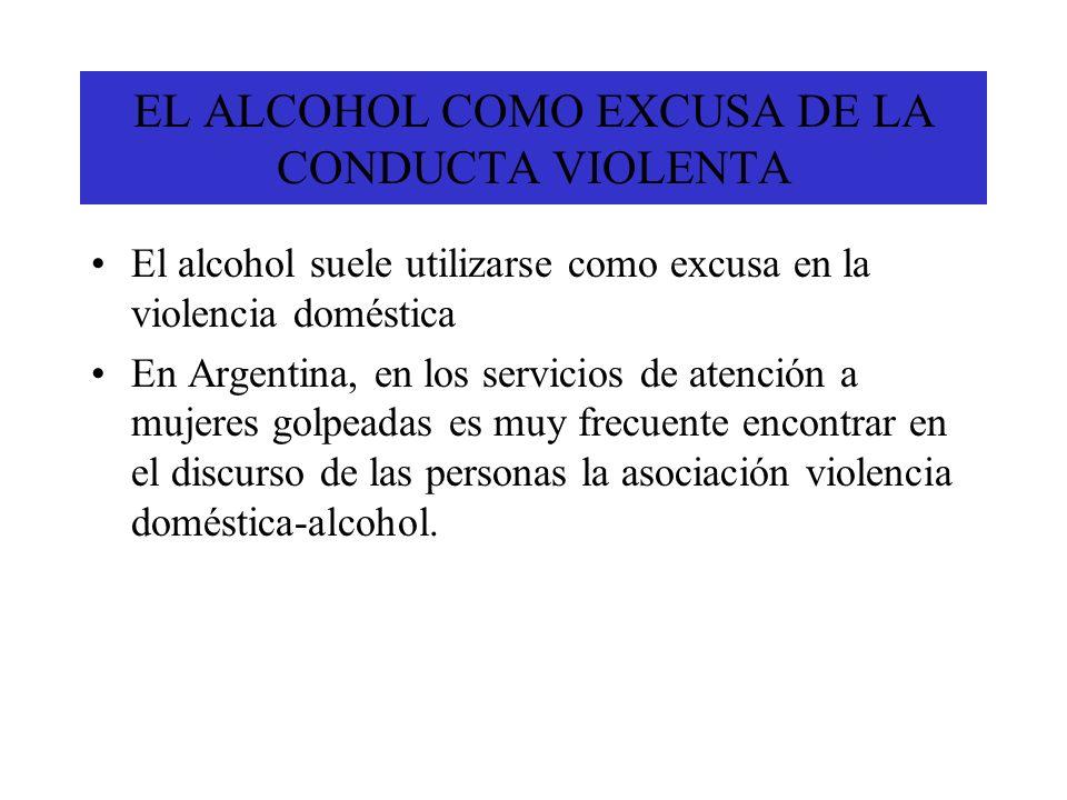 EL ALCOHOL COMO EXCUSA DE LA CONDUCTA VIOLENTA