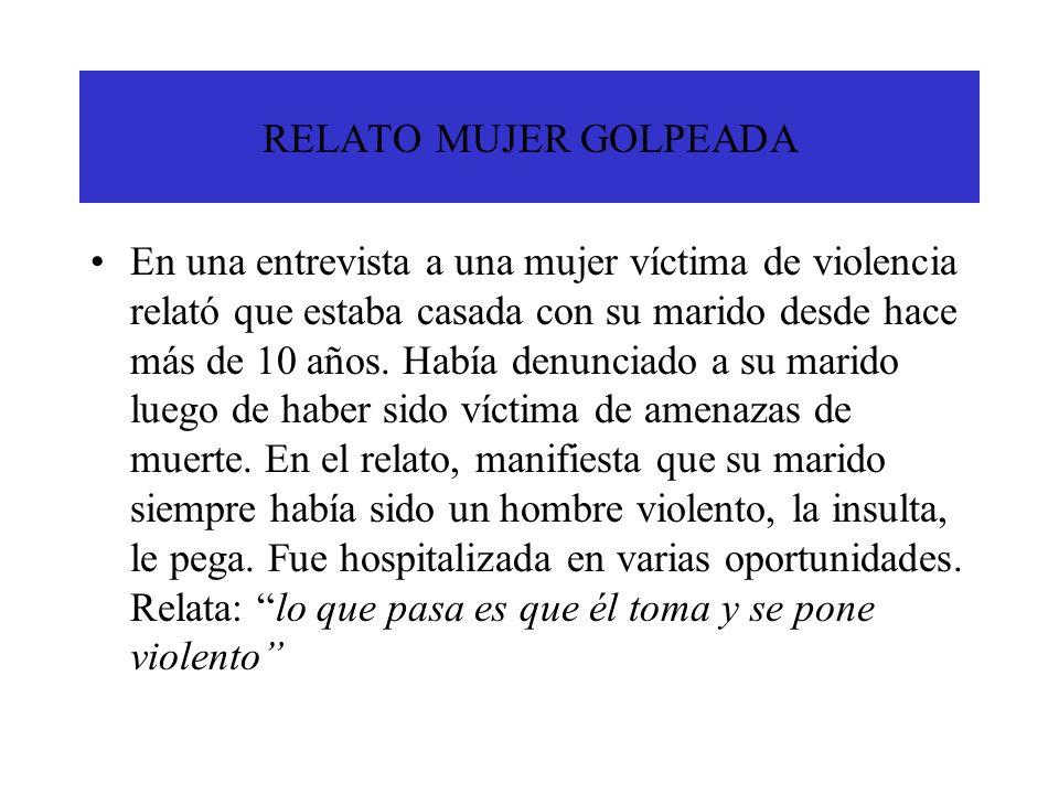 RELATO MUJER GOLPEADA