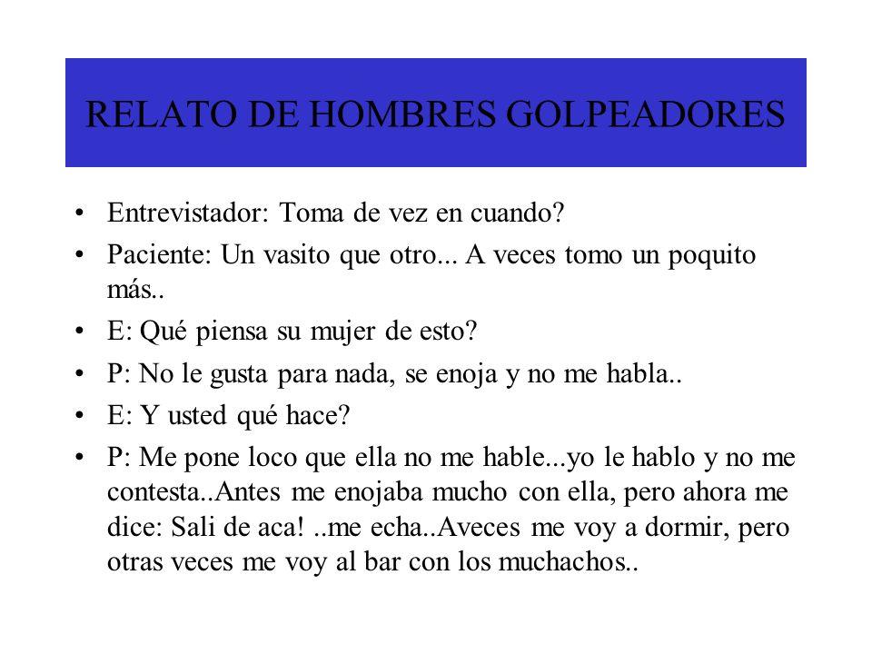 RELATO DE HOMBRES GOLPEADORES