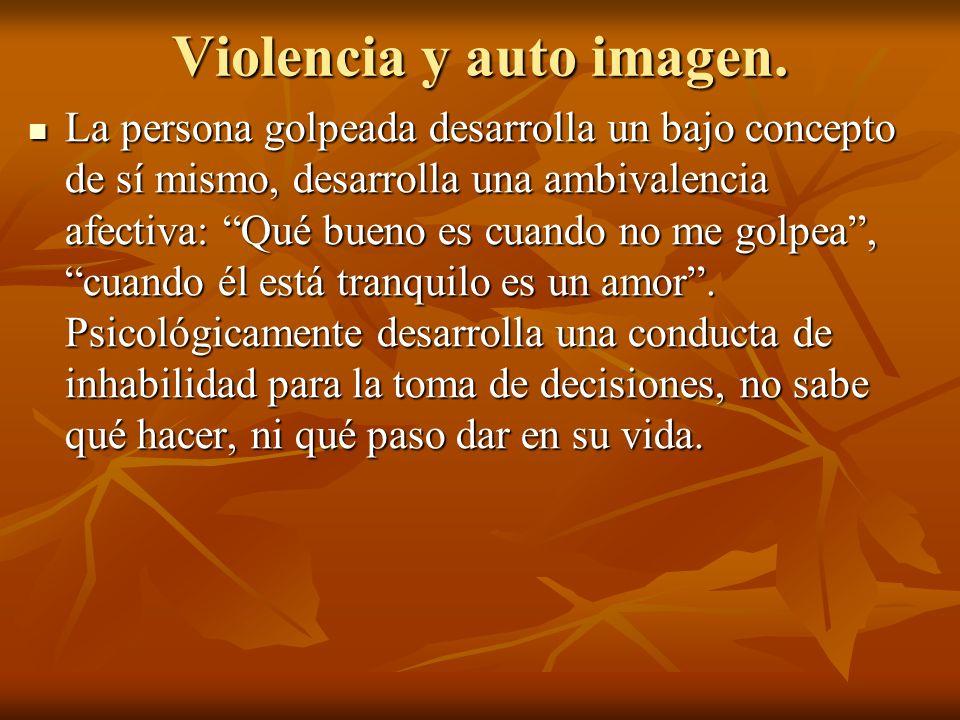Violencia y auto imagen.