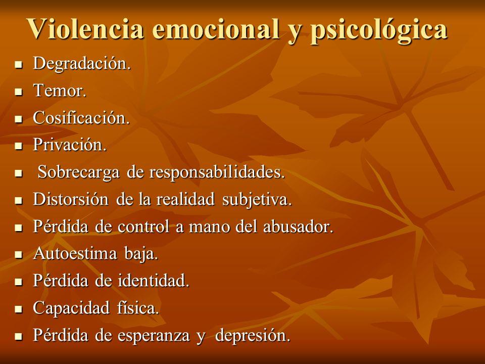 Violencia emocional y psicológica
