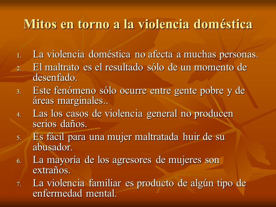 Mitos en torno a la violencia doméstica