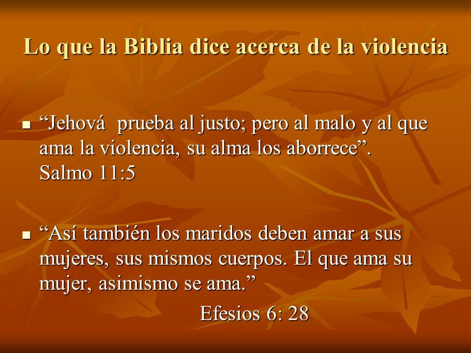 Lo que la Biblia dice acerca de la violencia