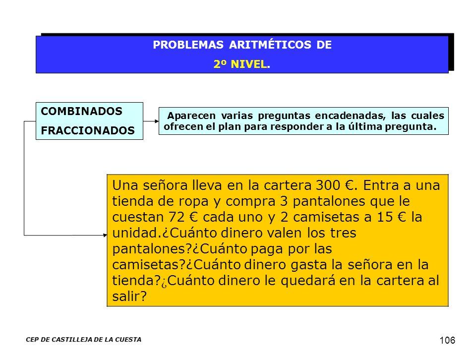 PROBLEMAS ARITMÉTICOS DE CEP DE CASTILLEJA DE LA CUESTA