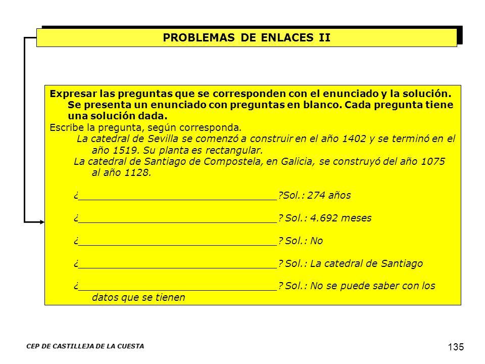 PROBLEMAS DE ENLACES II CEP DE CASTILLEJA DE LA CUESTA