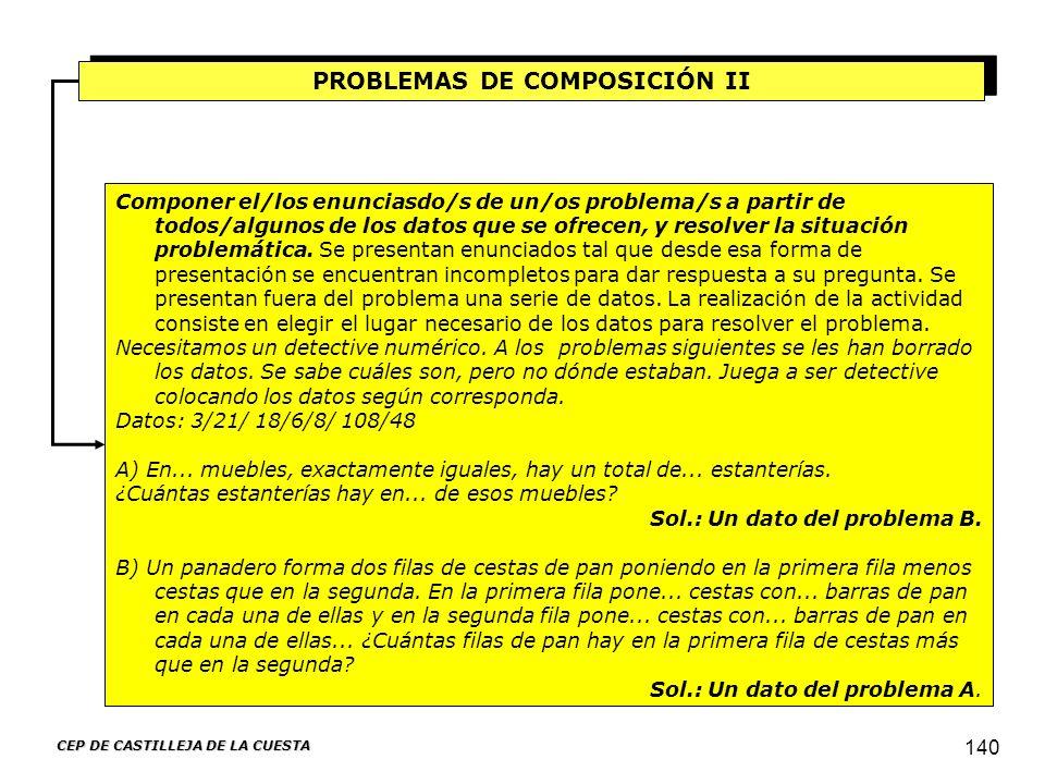 PROBLEMAS DE COMPOSICIÓN II CEP DE CASTILLEJA DE LA CUESTA