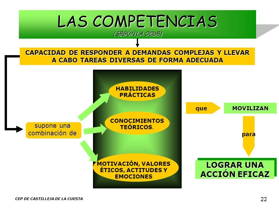 LAS COMPETENCIAS (SEGÚN LA OCDE)