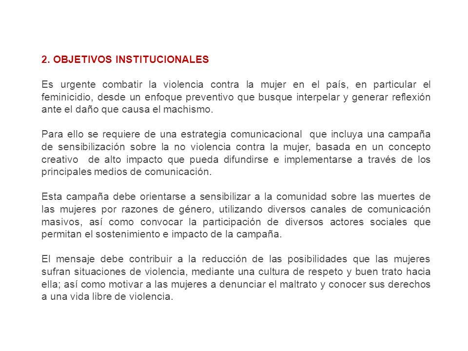 2. OBJETIVOS INSTITUCIONALES